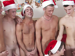 Its orgy time as 8 broke college boys get in the holiday spirit