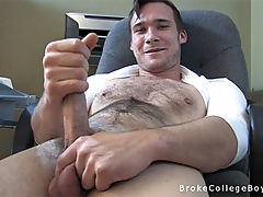 Broke college boy david was offered $25 to show his dick but he did much more for some extra cash