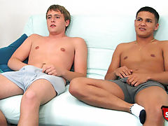 Two straight boys jerk off and 69 for cash