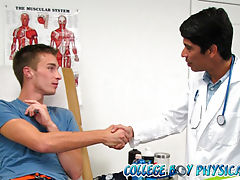 College boy gets his ass played with by college doctor