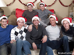 Its an eight boy christmas orgy with these broke college boys