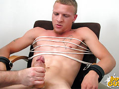 Boy gets tied up and jerked off
