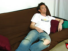Straight boy kyle does a casting couch video for broke straight boys